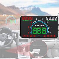 Автомобильный проектор HUD Х6 приборной панели на лобовое стекло проекционный дисплей-спидометр и тахометр