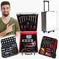 Набор инструмента Tool Box  Универсальный ручной большой в чемодане с колесами на 408 предметов