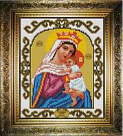 """Схема для вышивания бисером на атласе """"Отчаянных Единая Надежда Богородица"""" (ИС-463)"""