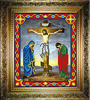 """Схема для вышивания бисером на атласе """"Распятие Иисуса Христа"""" (ИС-440)"""
