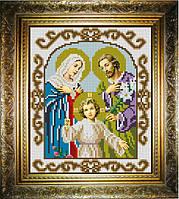 """Схема для вышивания бисером на атласе """"Святое Семейство"""" (ИС-432)"""