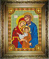 """Схема для вышивания бисером на атласе """"Святое Семейство"""" (ИС-533)"""