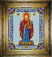 """Схема для вышивания бисером на атласе """"Стена Нерушимая Богородица"""" (ИС-429)"""