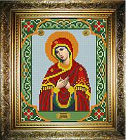 """Схема для вышивания бисером на атласе """"Умягчение злых сердец Богородица"""" (ИС-425)"""