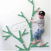 Детский скалодром «Веточки» для помещения конструктором