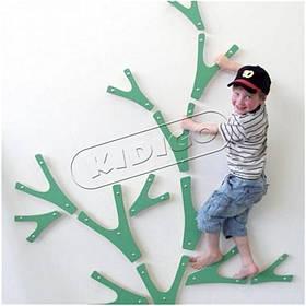 Дитячий скалодром «Гілочки» для приміщення конструктором