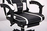 Кресло VR Racer Dexter Vector черный/белый (бесплатная адресная доставка), фото 7