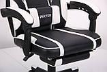 Крісло VR Racer Dexter Vector чорний/білий (безкоштовна адресна доставка), фото 7