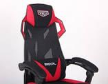 Крісло VR Racer Radical Taylor чорний/червоний (безкоштовна адресна доставка), фото 6