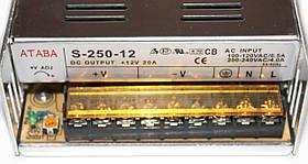 Блок питания Ataba S-250-12 12V 20A , фото 2