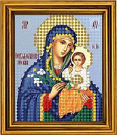 """Схема для вышивания бисером на атласе """"Неувядаемый Цвет Богородица"""" (ИМ-012)"""