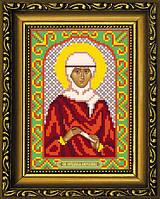 """Схема для вышивания бисером на атласе """"Святая Ангелина (Анжелика, Анжела, Алина, Лина)"""" (ИИ-5012)"""