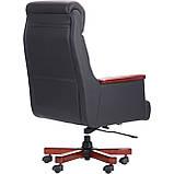 Кресло руководителя Grant Black черная кожа AMF (бесплатная адресная доставка), фото 4