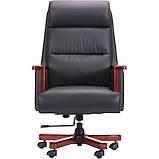 Кресло руководителя Grant Black черная кожа AMF (бесплатная адресная доставка), фото 2