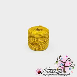 Джут цветной, желтый,  45 м