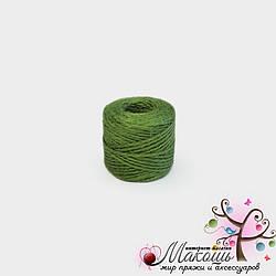 Джут цветной, зеленый,  45 м