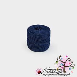 Джут цветной, т. синий,  45 м