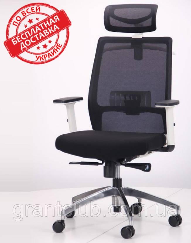 Кресло Install White Alum Black/Black AMF (бесплатная адресная доставка)
