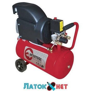 Компрессор 24л 8атм 206л/мин 220В PT-0010 Intertool 1.5кВт 2HP