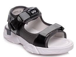 Босоножки серого цвета на липучках для мальчика R167651101GR, WeeStep