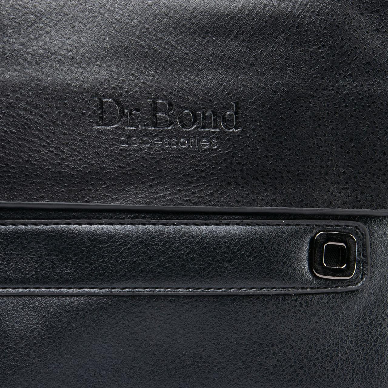 Чоловіча сумка з екошкіри чорного кольору DR. BOND (22*18*5 см) GL 512-2 black