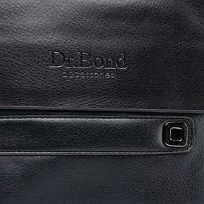 Чоловіча сумка з екошкіри чорного кольору DR. BOND (22*18*5 см) GL 512-2 black, фото 2