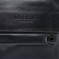 Мужская сумка из экокожи черного цвета DR. BOND (22*18*5 см) GL 512-2 black