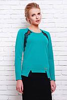 Блуза без застежки цвет бирюзовый  КЛАРА, фото 1