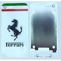 Задняя часть корпуса Apple iPhone 4 Белый Ferrari Оригинал