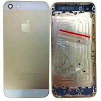 Задняя часть корпуса Apple iPhone 5 Золотой