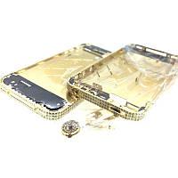 Средняя часть корпуса Apple iPhone 4S Золотой with Dimonds