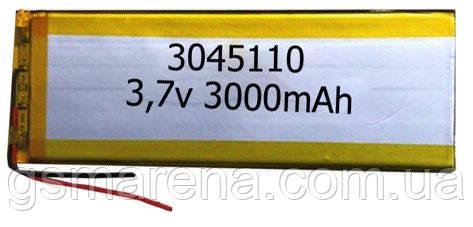 Аккумулятор универсальный 3045110 (4.5x11cm, 3.7v, 3000mAh), фото 2