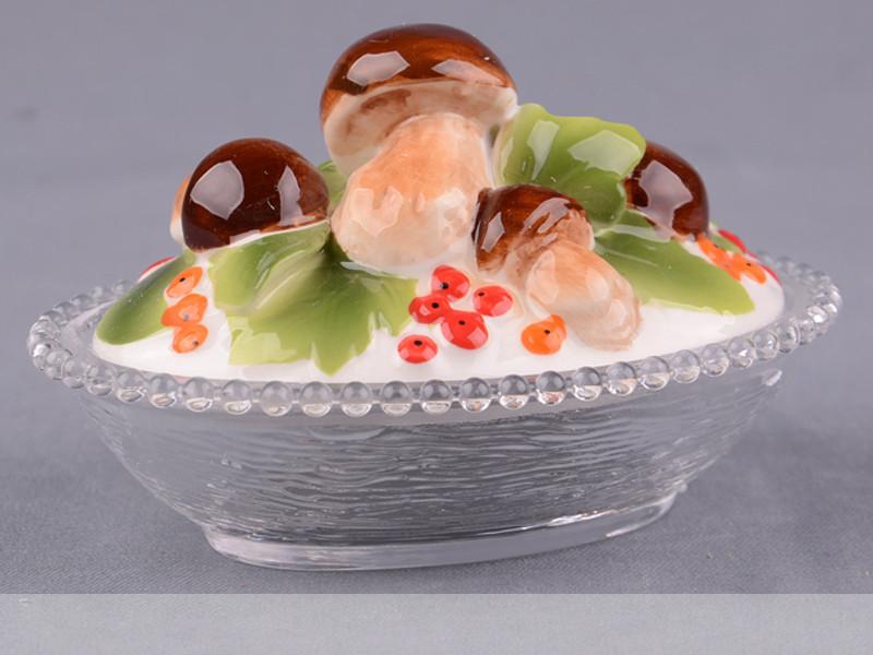 Блюдо с крышкой Lefard Грибы 12х9х8 см 58-808