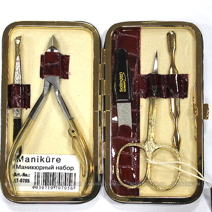 Niegelon - Маникюрный набор 07-0705 (5 предметов) Gold