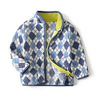 Кофта детская флисовая голубые ромбы berni kids 90 Berni Kids