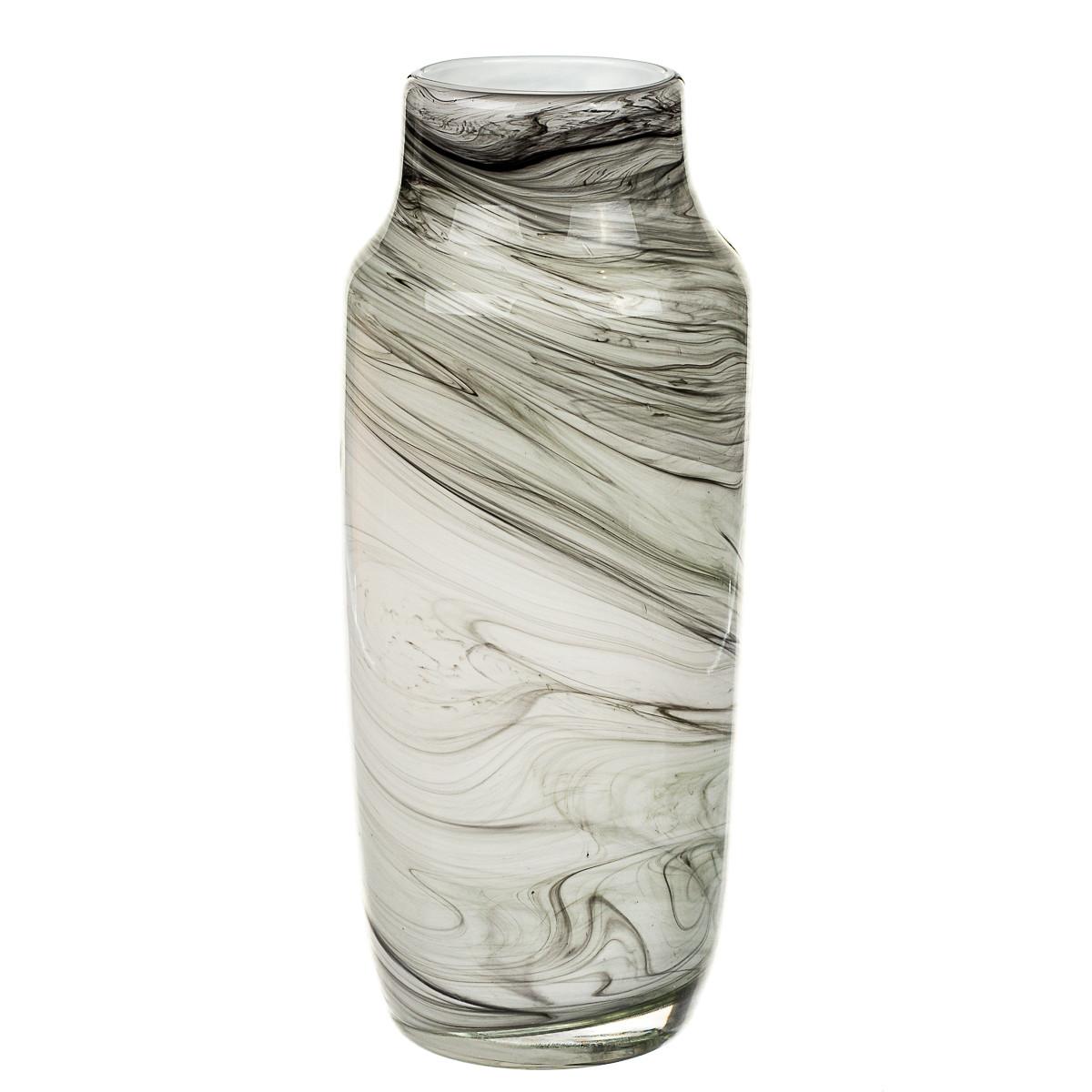 """Стеклянная ваза """"Мрамор"""" 32 см 8426-010"""