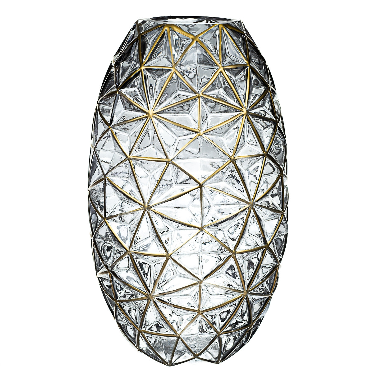 "Скляна ваза ""Аура"" 35 см 8426-003"