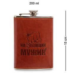 """Фляга подарочная """"Настоящий мужик"""" 200 мл 165256"""