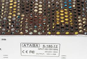 Блок питания Ataba S-180-12 12V 15A , фото 2