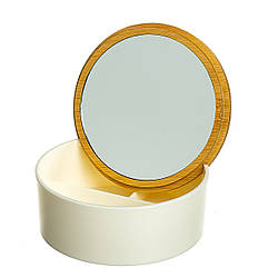 Зеркало-шкатулка 12х12х5 см 10500-012