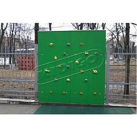 Дитячий вуличний скалодром «Скеля» зелений колір