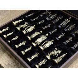 Игра настольная шахматы с фигурами из бронзы  Nb-Art 334445