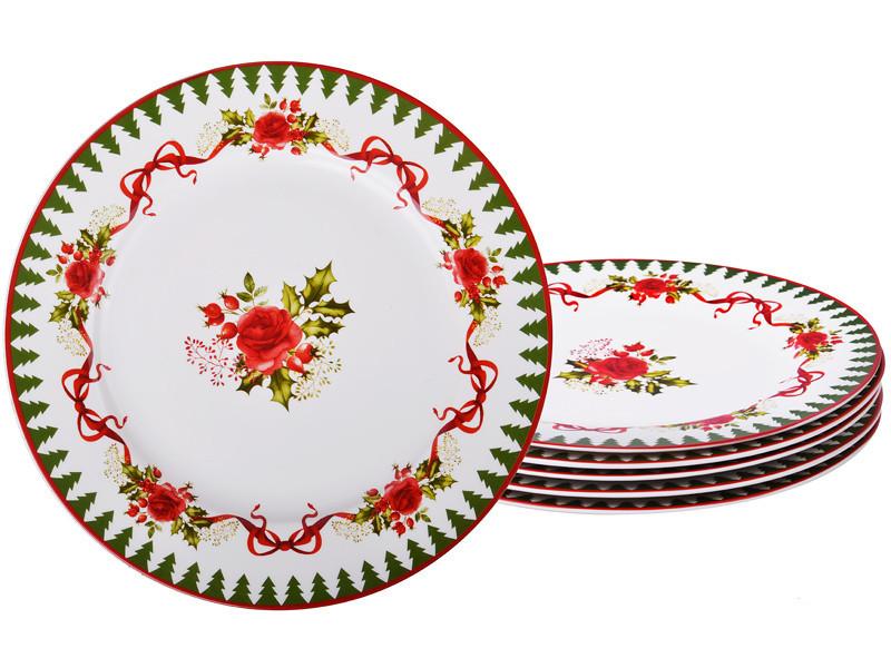 Набір тарілок Lefard Новорічна колекція 6 предметів 16 см 924-150