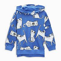 Детская кофта с капюшоном котята little maven 3 Little Maven