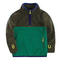 Кофта детская флисовая зеленые краски berni kids 140 Berni Kids