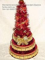 Конфетная красная елка (вариант-1)