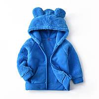 Кофта детская флисовая утепленная круглые ушки, синий berni kids 120 Berni Kids