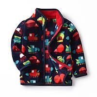 Кофта для мальчика флисовая разноцветные машины berni kids 130 Berni Kids