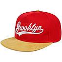 Кепка Cнепбек Brooklyn NYC с прямым козырьком, Унисекс, фото 4