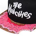 Кепка Снепбек Пончик, Munchies (Закуски) з прямим козирком, Унісекс, фото 3